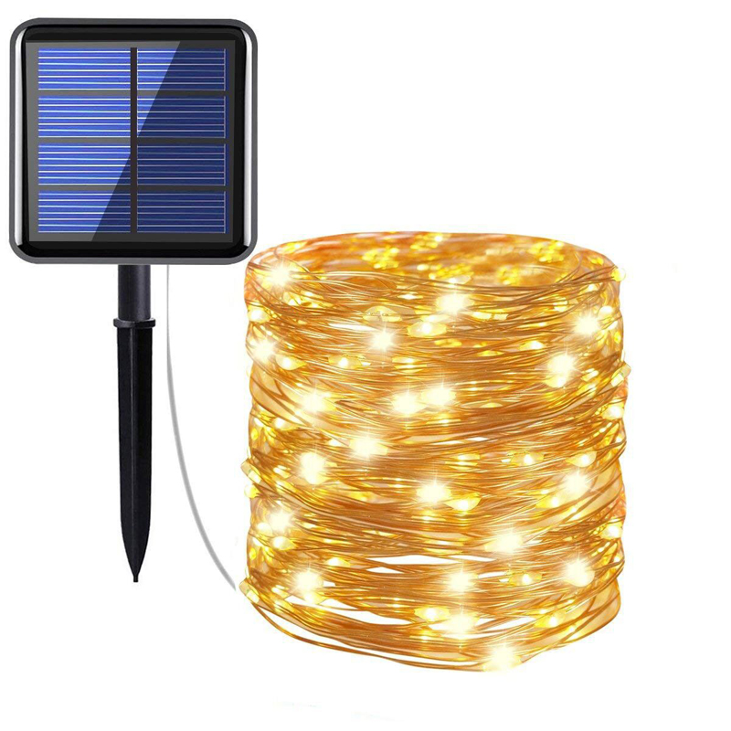 Solar Charging  Led Wedding Fairy String Light Christmas Light  Led String Lights Decoration For Party Holiday Wedding Garland