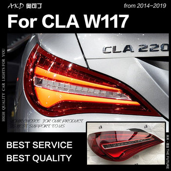 AKD Car Styling for Benz W117 Tail Lights 2014-2019 CLA180 CLA200 CLA300LED Tail Lamp LED DRL Brake Reverse auto Accessories