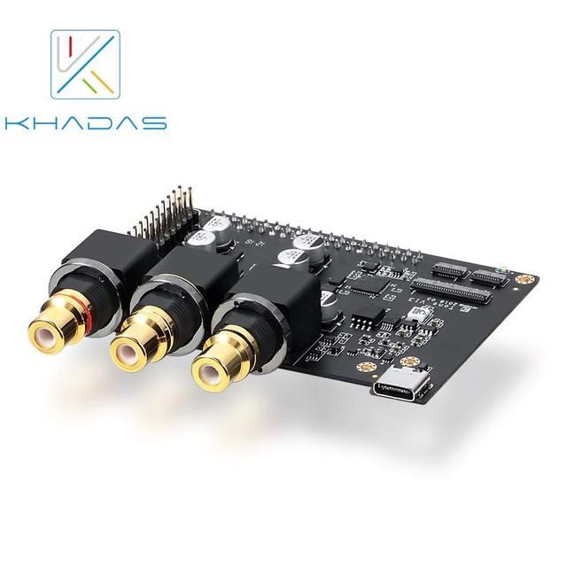 Khadas Tone Board Hi Res Audio USB DAC with Chip 32 bit ES9038Q2M XMOS XU208 Android/Linux Windows/ Mac/Raspberry pi 3+/4