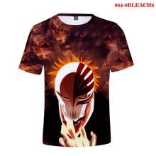 2020 nowy letni 3d T Shirt Anime BLEACH drukuj dla mężczyzn chłopcy moda obszerna koszulka fajne w stylu Streetwear BLEACH kobiety Tee topy tanie tanio WGTD WISH Krótki CN (pochodzenie) O-neck 0Diego41-Yungblud Dzianiny COTTON Poliester Na co dzień Cartoon 3d T Shirts BLEACH Print