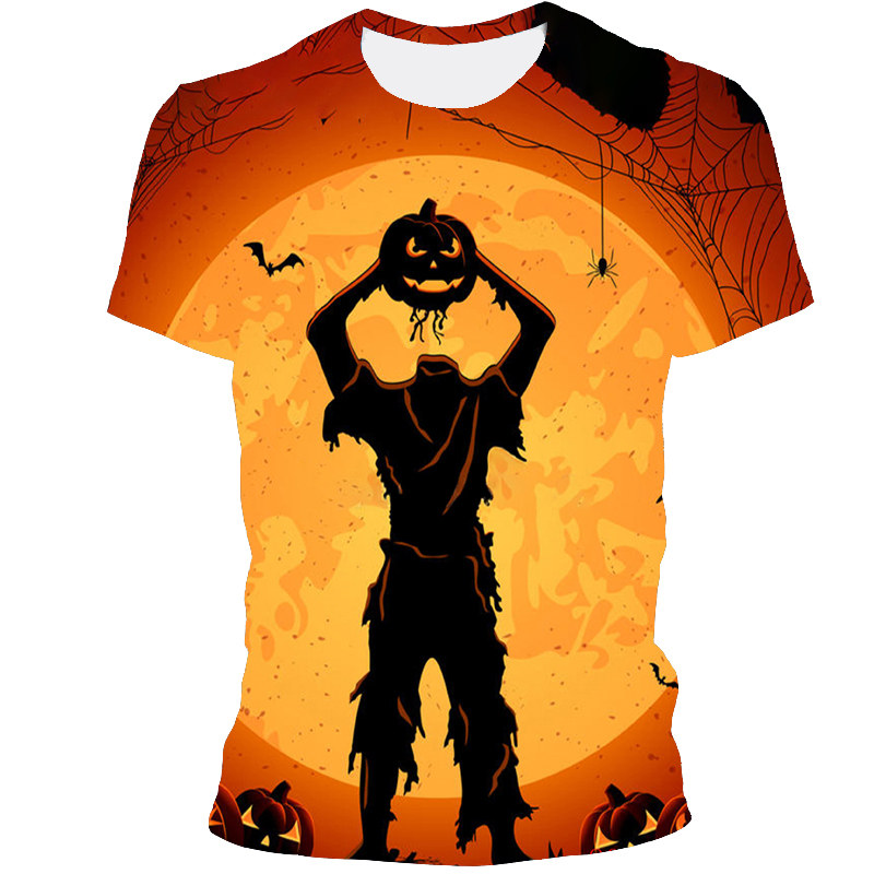 Fun 3D Printed T-Shirt Halloween All- Match Short-Sleeved T-Shirt Fashion Cool Unisex Adult Clothes 2021 Direct Sales
