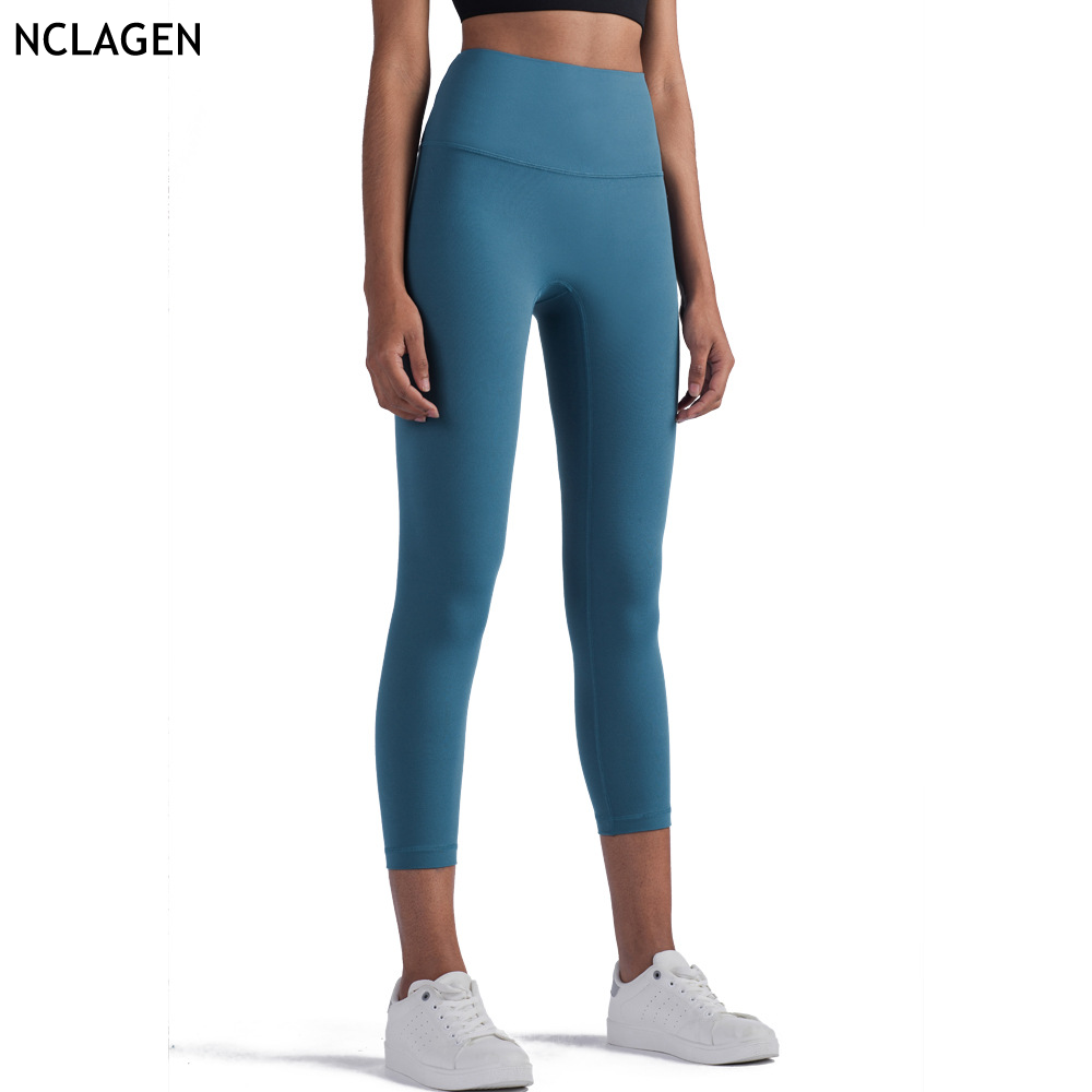 NCLAGEN Nữ Co Giãn Năng Lượng Thể Thao Tập Gym Tập Luyện Sóc Chống Nylon Thun Cao Cấp Chạy Cao Cấp Quần Tập Yoga Thể Dục Quần Legging