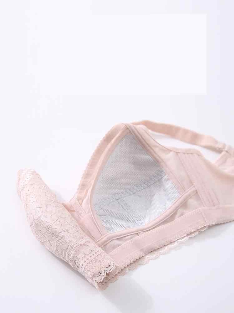 2019 קיץ חוט משלוח אסף לנשימה נוחות דק נשים חזייה נגד שקוע תחרה סקסי גדול גודל תחתונים נקבה A5805