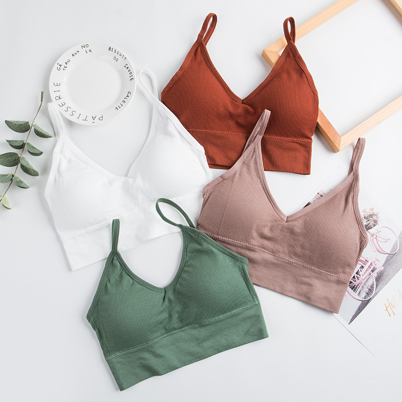 Women Sexy Crop Tops Tube Top Female Streetwear Sleeveless Camis Seamless Sports Lingerie Tee Bra Crop Top Bandeau Top Tank