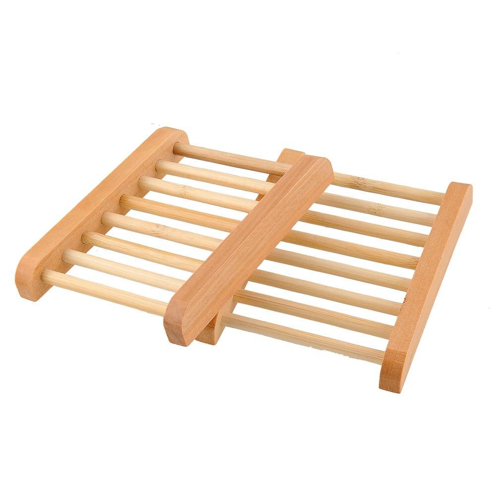 Handgemachte Seifenhalter Seifenablage Seifendose Reise Seifenschale Bambus Seifenschale Seifenschale Holz 2 Pcs Seife Box Holz