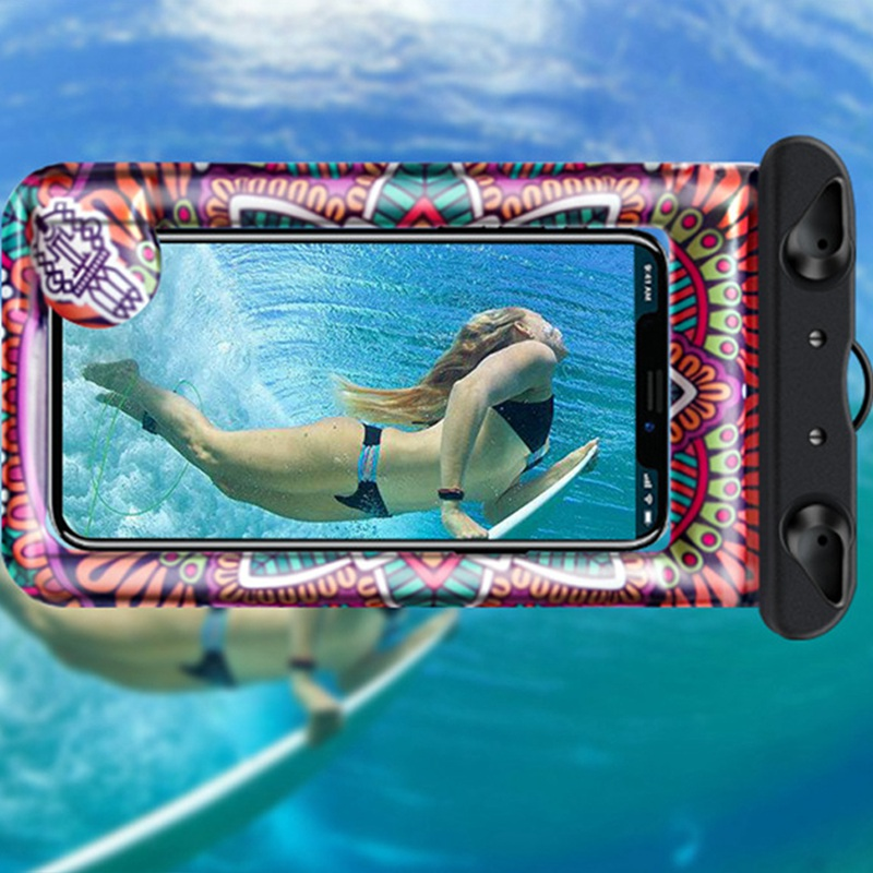 Universal Cover Waterproof Phone Case Cover Floating Gasbag Inflatable 6.1 Inch Waterproof Bag Case Swimming Bags