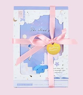 Cloud Girl Paper Postcard(1pack=30pieces)