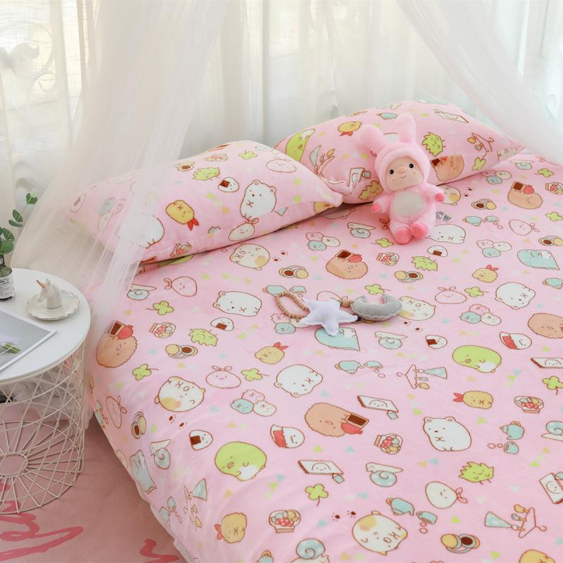 Kawaii Anime Sumikko Gurashi Corner Bio Pillow Cover Soft Flannel Sleeping Quilt Pillowcase Office Home Air-conditioning Blanket