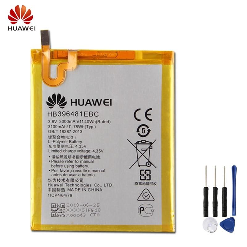 Batterie De Remplacement d'origine HB396481EBC Pour Huawei ASCEND G7 PLUS HONNEUR 5X GR5 5A G8 G8X RIO L03 UL00 TL00 AL00 3000mAh