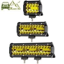 """XuanBa 1"""" дюймов 72 Вт Светодиодные Бар Для ATV 4x4 Внедорожные 18 Вт Работы грузовики 4WD ходовые огни для авто 12 В Focos Off-road Мотоцикл 36 Вт Барра свет"""