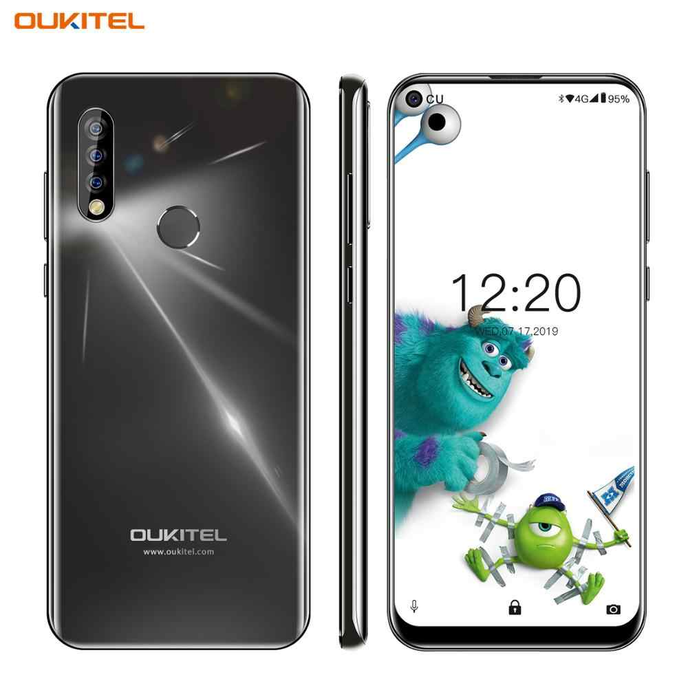 """OUKITEL C17 Pro 6.35 """"19.5: 9 Android 9.0 4G RAM 64G ROM MTK6763 Octa Core téléphone portable arrière Triple caméras double 4G LTE Smartphone"""