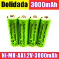 Dolidada New AA battery 3000 mAh Rechargeable battery NI-MH 1.2 V AA battery for Clocks, mice, computers, toys so on