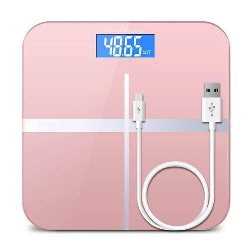Intelligent Electronic Scale Digital Temperature Bathroom USB Charging Scale|Bathroom Scales| |  - title=