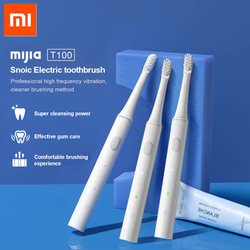 Nuevo Xiaomi mi jia T100 mi cepillo de dientes eléctrico inteligente Original 2 velocidades Xiaomi cepillo de dientes sónico blanqueamiento zona de cuidado bucal Re mi nder