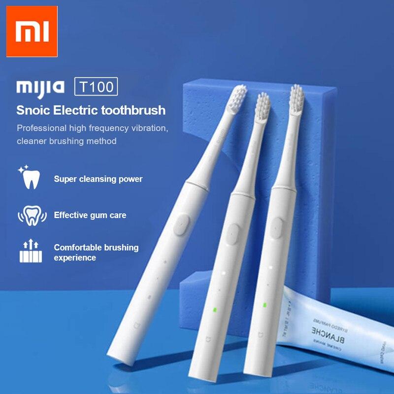 Новая умная электрическая зубная щетка Xiaomi Mijia T100 Mi, оригинал, 2 скорости, звуковая зубная щетка Xiaomi, отбеливание, уход за полостью рта, напоминание|Электрические зубные щетки|   | АлиЭкспресс