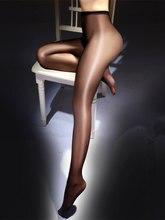Cintura alta óleo brilhante collants para mulher lingerie quente brilho ultrafino clássico sexy meia-calça 2020 puro náilon bling meias