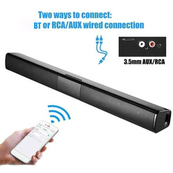 BT Sound Bar Wired Wireless Stereo TV Soundbar 2000mAh Audio Speaker with Subwoofer Support TF Card/RCA/FM Ideal for TVs/Gaming
