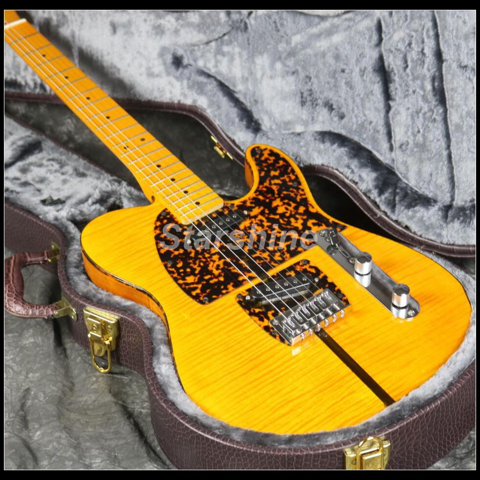 In Stock Fast Shipping TL Anderson Electric Guitar Z-ZS2 3A Flamed Maple Top Yellow Color Fast Delivery Good Quality