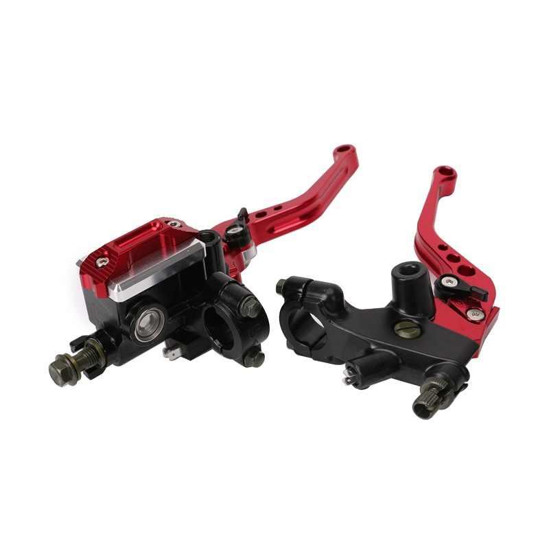 Vente chaude moto modifié CNC frein pompe supérieure universelle 22mm pompe hydraulique réglable Ox corne frein à main embrayage assemblée