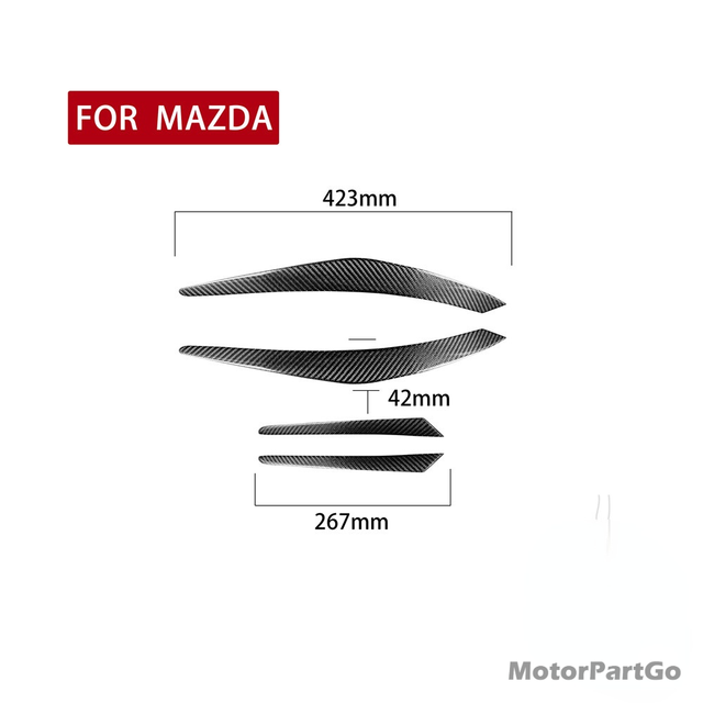 Real Crabon Fiber Head light Eyelid Eyebrow Cover Trim 1pair for  Mazda CX-5 CX5 2012-2017 T204 4