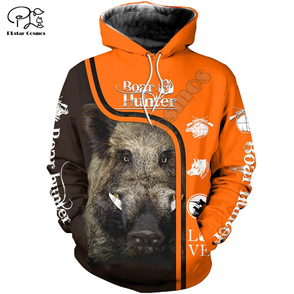 Men Unisex Boar Hunting Print 3d Hoodies Bow Hunter Sweatshirts Zipper Jacket Tracksuit Women Pullover Harajuku Streetwear Coat