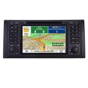 Image 2 - الأصلي UI 1 الدين مشغل أسطوانات للسيارة لاعب لسيارات BMW X5 E39 GPS بلوتوث راديو USB SD عجلة القيادة التحكم خريطة الكاميرا