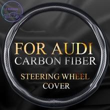 Sợi Carbon Bọc Vô Lăng Đa Năng Cho Xe Audi A4 A6 A3 A5 A7 A8 Q2L Q3 Q5L Q7 RS TT chống Trơn Trượt Phù Hợp Với Tất Cả Các Mùa