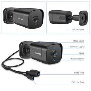 Image 2 - Techege 12V אודיו אבטחת IP המצלמה POE סופר HD 5MP ONVIF חיצוני עמיד למים טלוויזיה במעגל סגור מצלמה מעקב וידאו בית עבור POE NVR