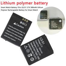 1 pièces 380mAh Rechargeable Lithium polymère li-po batterie pour montre intelligente DZ09 QW09 A1 W8 Lithium-ion li-polymère Smartwatch batterie
