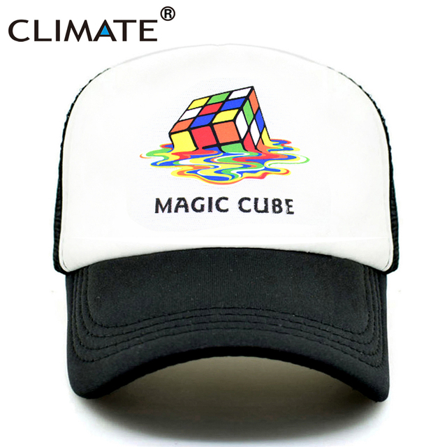 Climate Magic Cube Trucker Cap Big Bang Theory Dad Mom Cap Cool Hat Cap Summer Colorful Magic Cube Fan Cap Hat For Men Women Kid Men S Baseball Caps Aliexpress