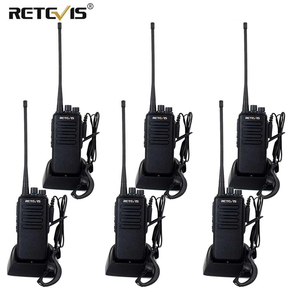 High Power Walkie Talkie 6pcs Retevis RT1 VHF (or UHF) VOX 3000mAh Twelve Antenna Two Way Radio Long Range Handy Walkie-Talkie