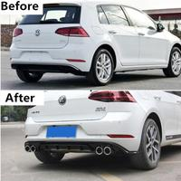 4 Outlet ABS Paint For Car Rear Bumper Lip Splitter Diffuser Lip Cover For Vw Volkswagen Golf 7.5 2018 2019 2020