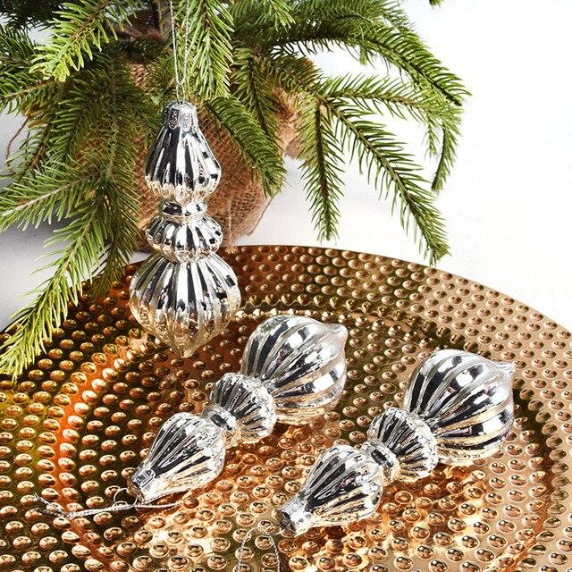 Christmas decorations window decorations Christmas tree glass heart-shaped tree-shaped gourd shape pendant