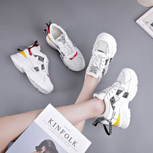 CINESSD Mesh White Shoes Women Sneakers Platform Height Increased Ladies Shoe New 2020 Spring Wedge Casual