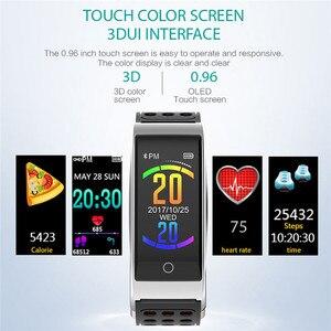 Image 3 - E08 سوار ذكي ECG PPG قياس ضغط الدم جهاز تعقب للياقة البدنية سوار ساعة مقاوم للماء مراقب معدل ضربات القلب