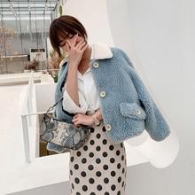 2019 Women New winter clothing thicken woolen jacket female Korean version of the short loose Plaid coat