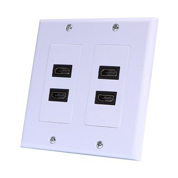 Dual Usb 3.0 Keystone Wall Plate Charger Outlet Mount Socket Face Plate Cover Lead Wall Panel Full Hd 1080 Tv Cable Panel image
