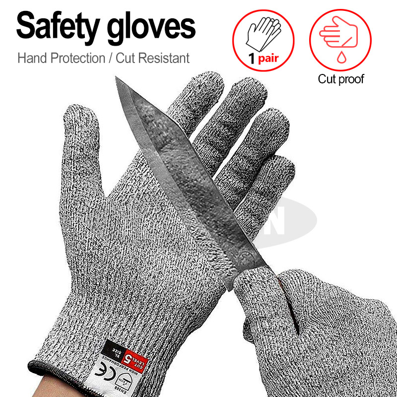 Anti-Cut-Gloves Cutting Fish-Meat Kitchen 5-Protection High-Strength for Grade-Level
