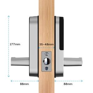 Image 5 - TTlock app טביעת אצבע מנעול חכם, wifi אפליקציה עמיד למים כפתור הקוד pin לוח מקשים אלקטרוני מנעול דלת, ביומטרי נעילת שלט רחוק