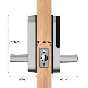 Image 5 - Смарт замок TTlock с отпечатком пальца, wifi приложение с водонепроницаемой кнопочной клавиатурой, электронный дверной замок, биометрический замок с дистанционным управлением