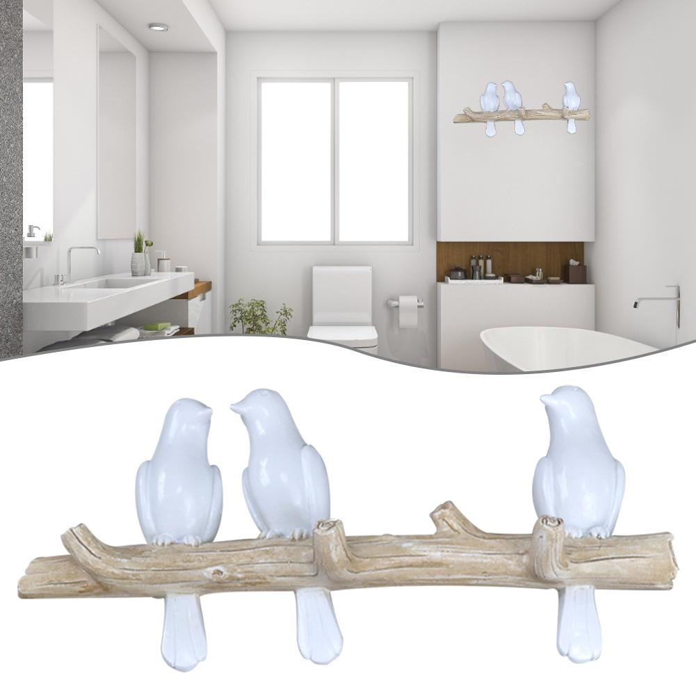 New Arrivals Birds On Tree Branch Hook Wall Mounted Decorative Hanger For Coats Keys Towels