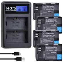 4 batteries 2650mAh pour Canon EOS 5D Mark IV 5D2 5DS R Mark II III 3 6D 60D 60Da 7D 7DII, avec chargeur et étui de batterie LPE6