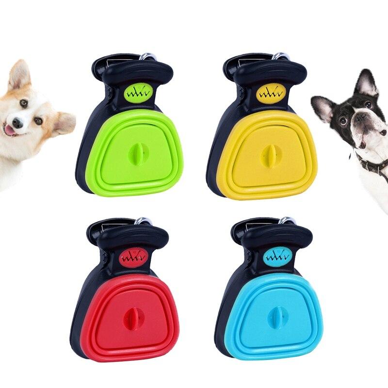 Plástico de silicona para perro mascota viaje plegable Pooper Scoop Poop limpiar limpieza limpiador con bolsa de arena titular Perros Productos