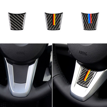 Car Styling Auto Steering Wheel Sticker Accessories for Bmw Z4 E89 Series 2009-2015 Vehicle Carbon Fiber Emblem Decal Interior image