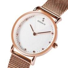 Женские наручные часы BOBOBIRD из розового золота, женские часы с сетчатым браслетом из нержавеющей стали, женские часы, поддерживают прямую поставку