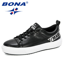 BONA 2020 New Arrival Skateboarding Shoes Men Sneakers Street Shoes Sports Shoes Man Outdoor Walking Shoes Chaussure Homme Comfy
