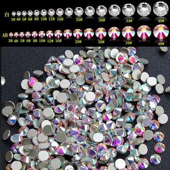 Nails Strass Yanruo Crystal AB Rhinestones Crafts Nail Art Flat Back Non Hotfix Glue On 3D Nail Art DIY Crystal Decoration 5 5mm starfish crystal ab flat back hotfix rhinestones iron on flatback crystals new star strass for nail art fabric garment