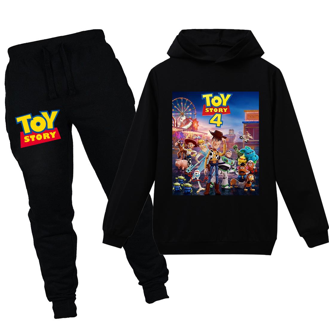 Toy Story 4 Kids Boys Girls Casual Outfits Character Hoodies Sweatshirt Top+Pant