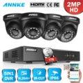 ANNKE 4CH H.264 + 1080P Lite система видеонаблюдения DVR 4 шт 2.0MP ИК ночного видения Купольные Камеры видеонаблюдения 1080P комплект видеонаблюдения