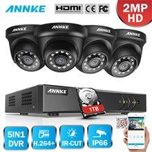 ANNKE 4CH H.264 + 1080P Lite CCTV System DVR 4 stücke 2.0MP IR Nacht Vision Sicherheit Dome Kameras 1080P Video Überwachung Kit